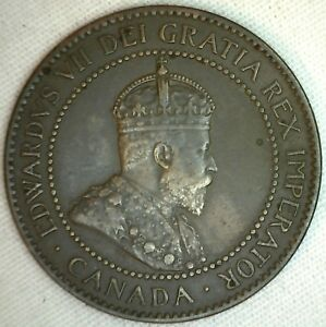 1906-Copper-Canadian-Large-Cent-Coin-1-Cent-Canada-XF-K3