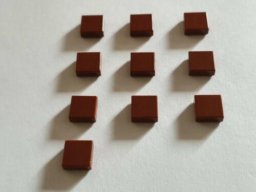 LEGO ® 10 x 3070b piastrella 1 x 1 rosse-marroni 4211288 Reddish Brown i16