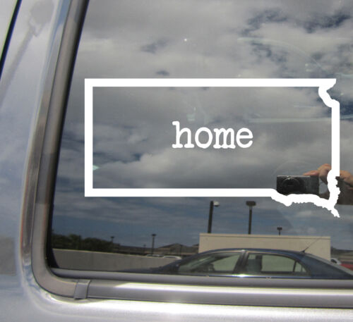 South Dakota Home State Outline USA Car Window Vinyl Die-Cut Decal Sticker 07044