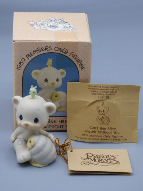 PRECIOUS MOMENTS CAN/'T BEE HIVE MYSELF WITHOUT YOU  ~ BC891~BEAR AND BEE ~NIB