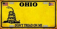 Ohio Dont Tread On Me Novelty Metal License Plate