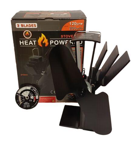 Lame 2019 2 Heat Powered Stove Fan ecoflow Log Brûleur Poêle à bois Ventilateur