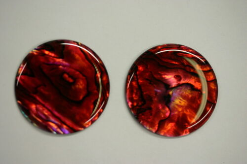 4pcs 12mm Natural Paua Shell Red Calibrated Round Cabochon Gemstones Jewelry