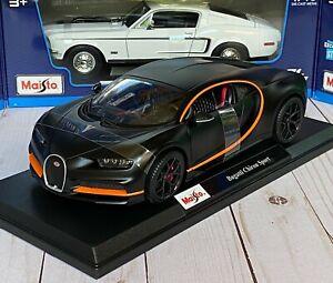 Bugatti-Chiron-Sport-se-Mate-Modelo-de-Metal-Maisto-1-18-Diecast-Super-Coche-Nuevo