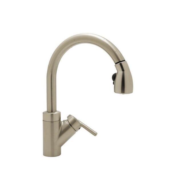 Blanco 440616 Rados Single-Handle Pull-Down Sprayer Kitchen Faucet, Satin  Nickel