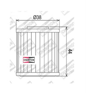 Suzuki-RMX450-Z-L0-L1-L2-L3-450-2010-gt-2013-FILTRO-OLIO-CHAMPION-COF107