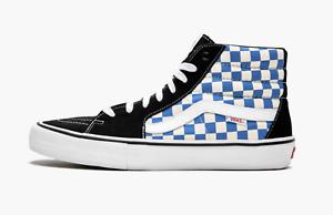 Mens Vans SK8 HI Pro Checkerboard Size 9 Black bluee NIB VN0A347TQ1L 617 HC