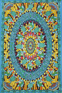 Sunshine Joy Grateful Dead Terrapin Dance Turtle Tapestry 2 Sizes FREE SHIPPING