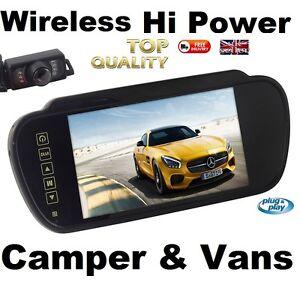 CAMPER-MOTORHOME-LORRY-REAR-VIEW-REVERSING-MIRROR-SCREEN-LCD-VISOR-NIGHT-VISSION