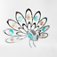 Crystocraft-Proud-Peacock-Crystal-Ornament-With-Swarovski-Elements-Gift-Boxed thumbnail 7