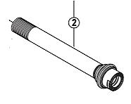 Shimano FH-M828 hub axle 12 mm