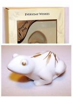 Lenox Everyday Wishes Good Prosperity Frog Figurine With Gold Accents In Box