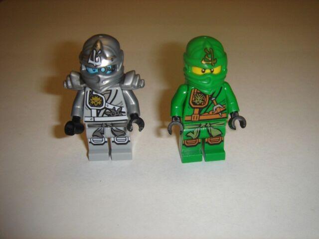 2 Lego Ninjago LLOYD ZUKIN ROBE Green Nlnja &Titanium Zane Minifigures 2015 lot
