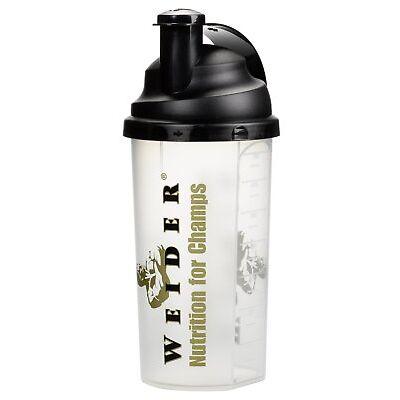 Weider Shaker Standard Eiweißshaker Proteinshaker Flasche 700ml transparent
