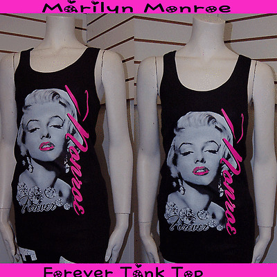 So Cute Marilyn Monroe Forever Short Sleeve T-Shirt Hot Pink Letter SML Junior