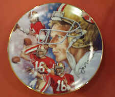 Joe Montana 1991 Collector Plate by Gartlan Limited Edition