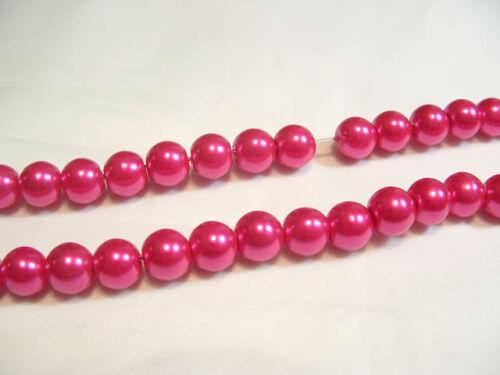 PC X verre perle 10mm perles rondes # 82e cerise 85