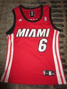 uk availability b8b3e 6bb6f Details about LeBron James #23 Miami Heat NBA adidas Jersey Womens SM S