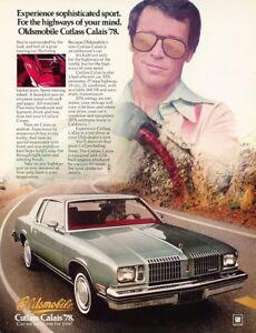 1978-Oldsmobile-Cutlass-Calais-Original-Advertisement-Print-Art-Car-Ad-PE69