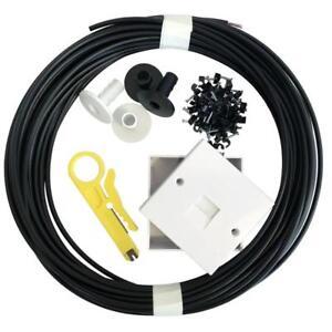 45 M Externe Câble Téléphonique Extension Kit Cw1308 2 Paire Boîte 2/3a Rondelles Clip-afficher Le Titre D'origine