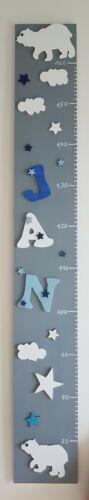 Kinderzimmer deko Messlatte für Kinder mit Namen Holz Handgefertigt