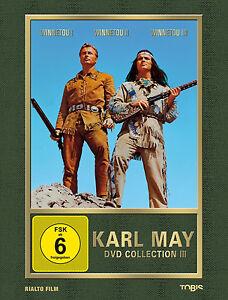 Karl-May-Winnetou-PARTE-1-2-3-OLD-SHATTERHAND-PIERRE-BRICE-DVD-Coleccion-III-neu