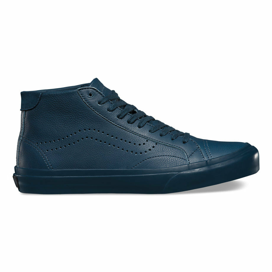Brand New VANS LEATHER COURT MID DX Leather Midnight Navy SZ US M 10.5