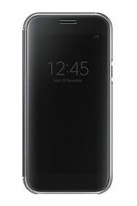 buy online 833a2 e0555 Details about Official Samsung Galaxy A5 2017 SM-A520 Black Clear View  Cover / Case - EF-ZA520