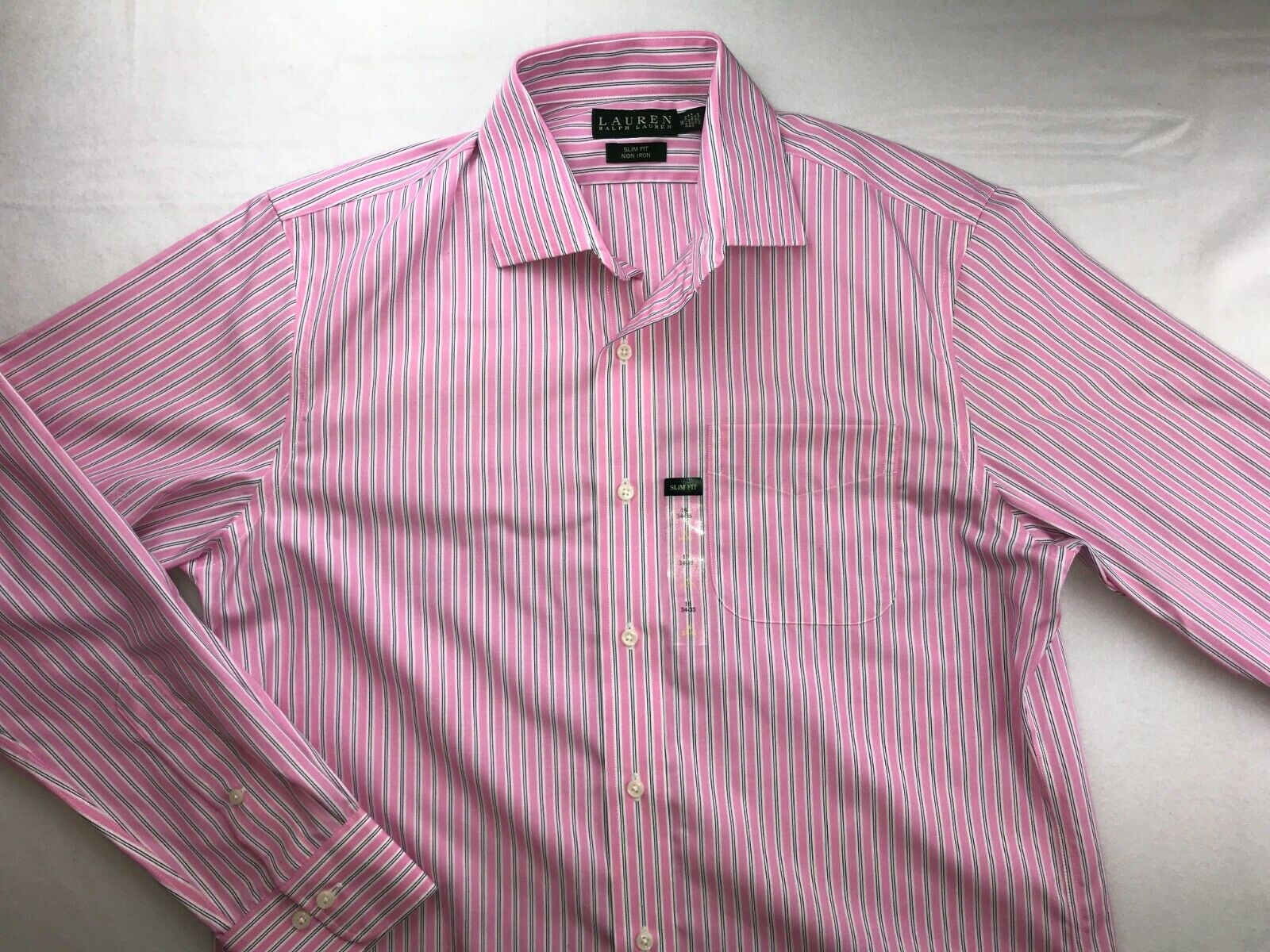 fa4b121b1e48a5 NWT RALPH POLO SLIM FIT BUTTON DOWN LONG SLEEVE SHIRT 16 34 35 PINK - LAUREN  neequu12230-Formal Shirts