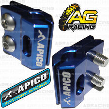 Apico Blue Brake Hose Brake Line Clamp For Kawasaki KXF 450 2011 Motocross New