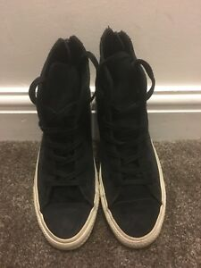 Black Suede Size High Zipped Top rare 6 Converse rrdZ1xqg