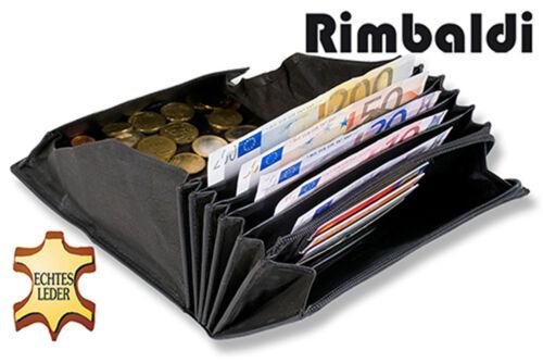 Rimbaldi Good Value Waitress Purse Of Robust Buffalo Leather In Black