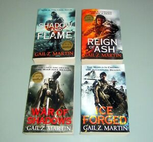4-Books-SIGNED-by-GAIL-Z-MARTIN-ASCENDANT-KINGDOMS-SAGA-Fantasy-Science-Fiction