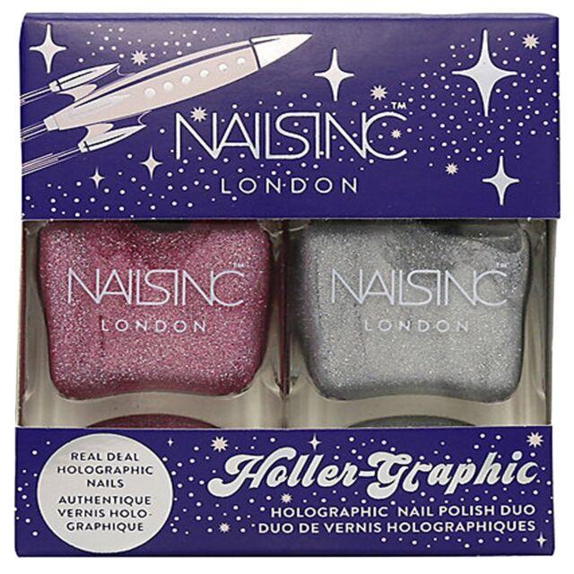 Nails Inc Holler Graphic - Nail Polish Duo Set - (2 X 14ML)