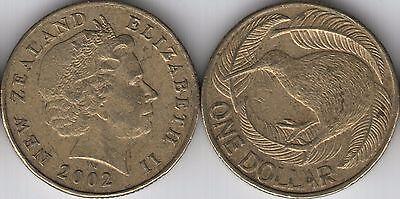2002 New Zealand $1 One Dollar coin