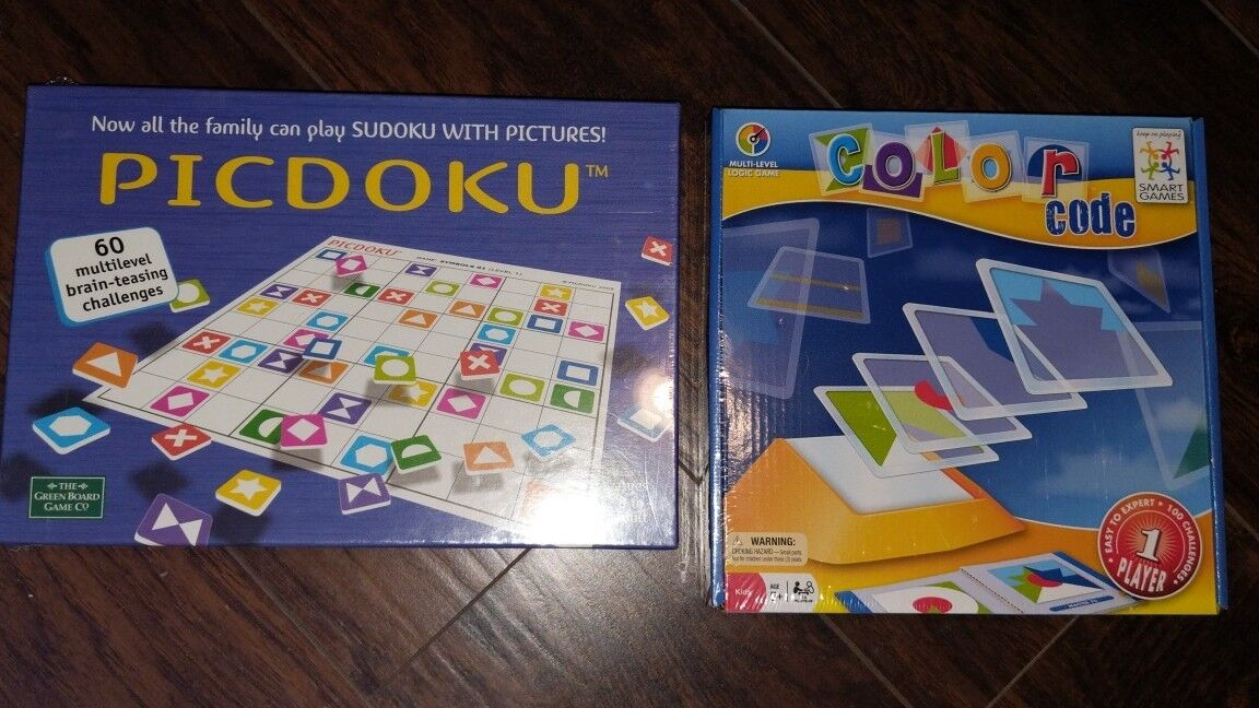 PICDOKU The Green Board Game Co. And color code smart logic game