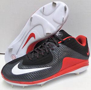 Nike Air MVP Pro Metal 2 Baseball Cleats Nike 684685-061 Black and Red Size 10