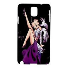 Betty Boop Samsung Galaxy Note 3 N9005 Hardshell Case Cover (Black) HOT NEW