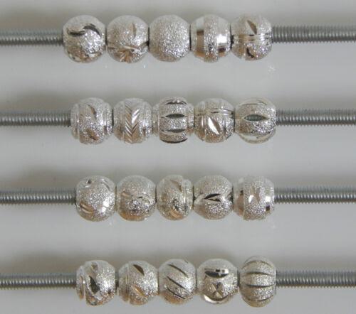 10//20 Plaqué Argent Stardust Perles ou Maille Entretoises Fit European Bracelet
