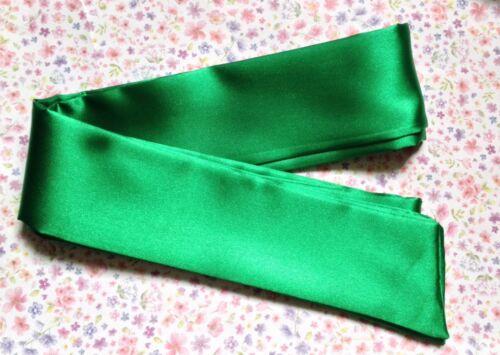 Foncé Satin Self Tie Bow cheveux Wrap écharpe Bandeau 50 s VINTAGE 80 s Style Rétro