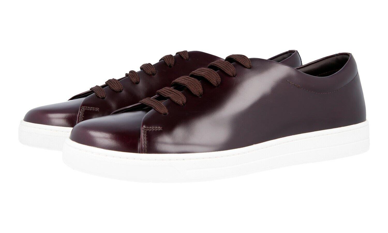 AUTH LUXURY PRADA scarpe da ginnastica scarpe 4E2996 CORDOVAN NEW US 10.5 EU 43,5 44