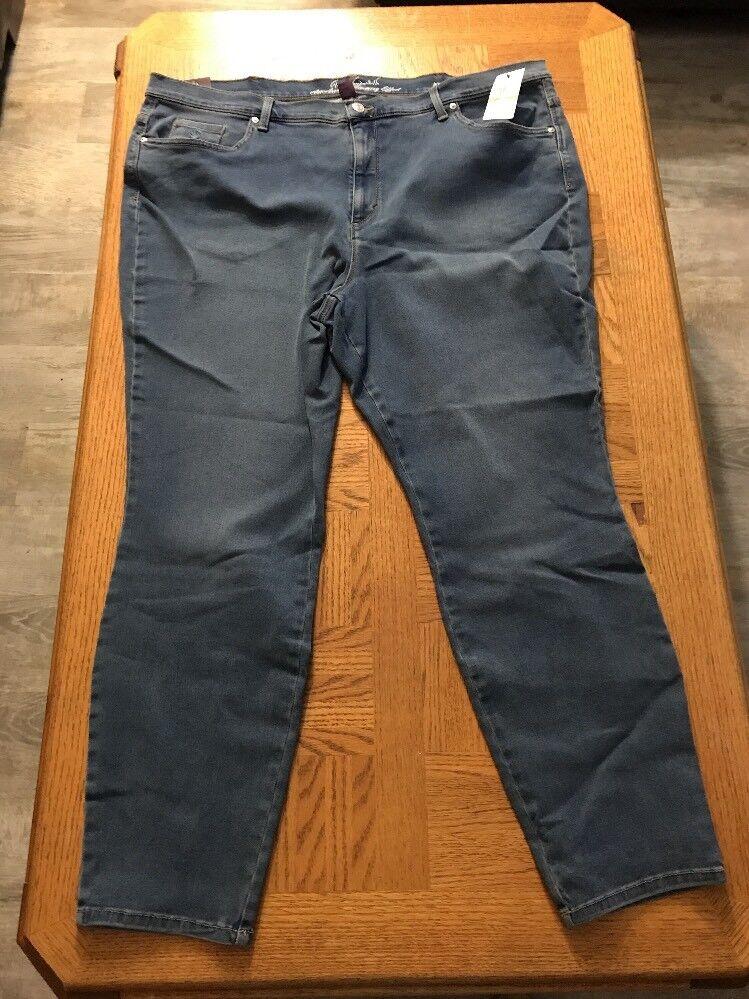 Gloria Vanderbilt Womens All Around Slimming Jeans Size 24W 0002
