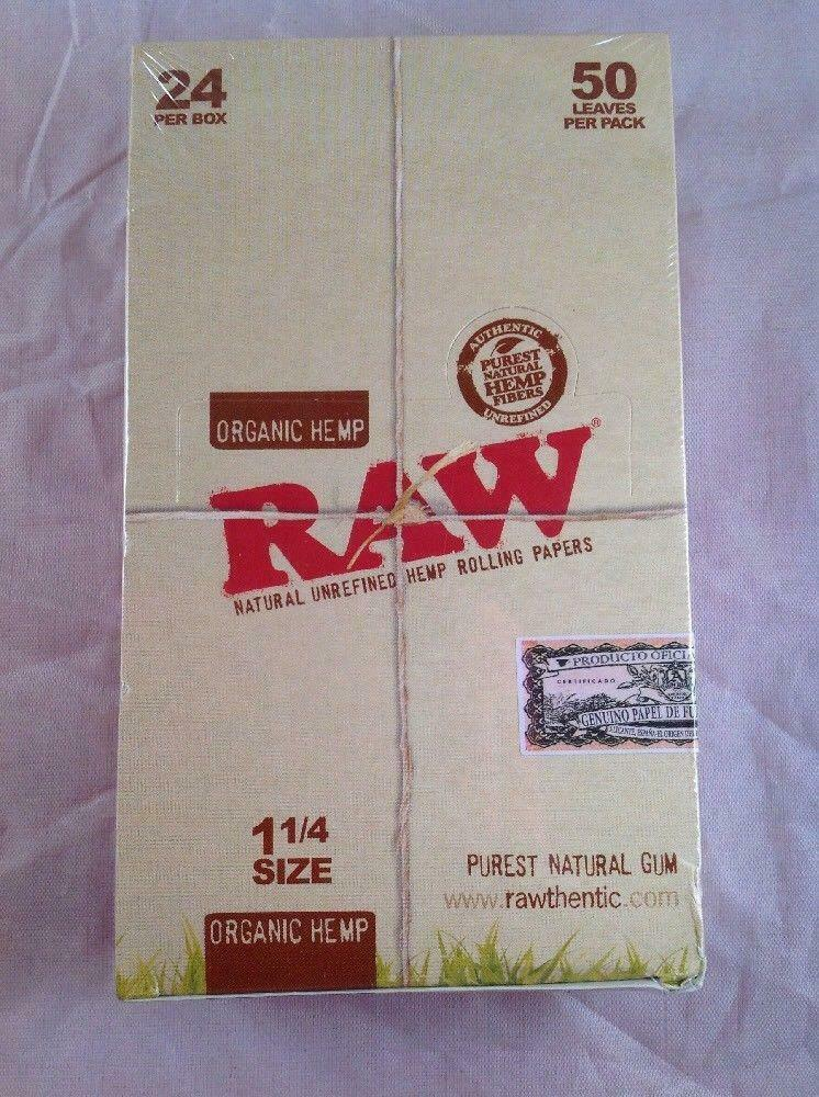 RAW Organic 1 4 Rolling Papers 24 count
