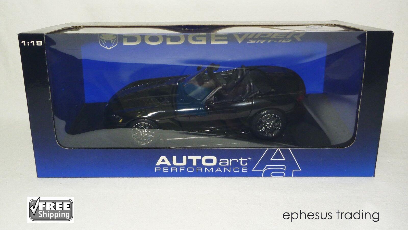 AUTOART Art 2003 DODGE VIPER SRT-10 Roadster Prougeotype 8.3 L V10 noir 1 18 Comme neuf