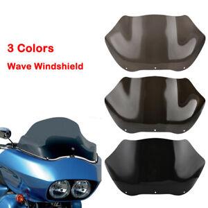 """14/"""" Smoke Light Wave Windshield Windscreen 98-13 Harley Road Glide FLTR FLTRX"""