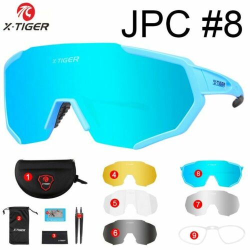 Polarized 5 Lens Cycling Glasses Road Bike Eyewear Bicycle Cycling Sunglasses
