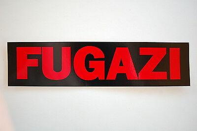 "Fugazi Sticker Decal Bumper Punk Rock Music Minor Threat Window 8""X2"" (70)"