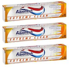 3 Pack - Aquafresh, Extreme Clean Toothpaste Whitening Action - 5.6oz Each