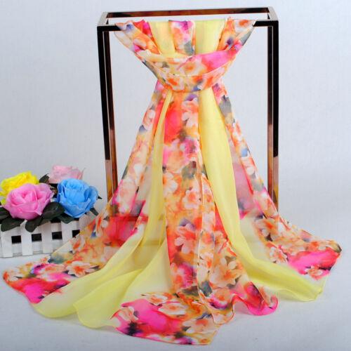 160 50 cm fiori floreale moda Donna Sciarpe Sciarpa in Chiffon Da Donna Scialli X246
