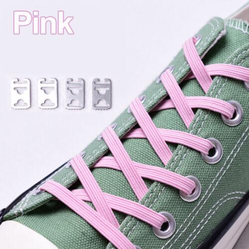 1Pair Unisex Lazy Tie-free Shoelace Stretch Elastic Shoelaces Flat Shoe Laces UK